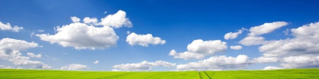nuvole e prati verdi
